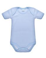Body Neonato Mezza Manica Rigato Azzurro 100 % Cotone 24 / 30 Mesi
