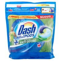 Detersivo Lavatrice Allin1 Pods Capsule + Anti-Odore Dash, 49 Lavaggi