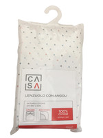 Lenzuolo Con Angoli Stampa Pois 2 Piazze Cm 180 x 200 Rosa Casa