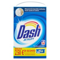 Detersivo In Polvere Per Lavatrice Dash , conf . Da 114 Misurini
