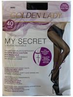 Collant My Secret Tg 2 Nero 40 Denari Golden Lady