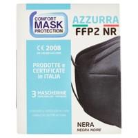 Mascherina Azzurra Ffp2 Nera Conf. Da 3