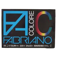 Fabriano Blocco Con Angoli 20 Fogli Colorati 24 x 33
