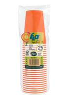 Bicchieri Usa & getta In Cartoncino Colorato Arancioni Flo Cl . 20