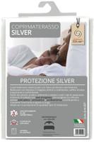 Coprimaterasso 2 pz Cm 165 x 195 Con Trattamento Silver Antibatterico