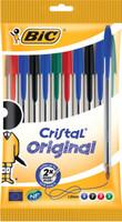 10 Bic Cristal Colori Assortiti