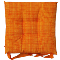 Cuscino Sedia Tessuto Stampato Cm 40 x 40 Arancio