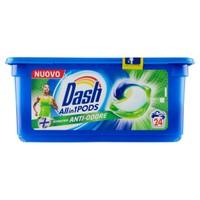 Detersivo Lavatrice Allin1 Pods Capsule + Anti-Odore Dash, 24 Lavaggi